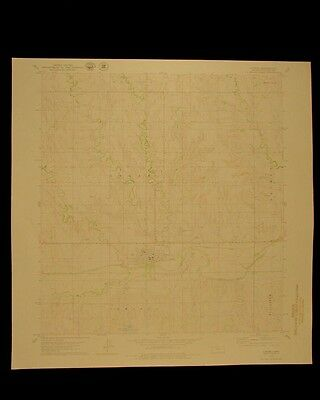 Logan Kansas vintage 1979 original USGS Topographical chart