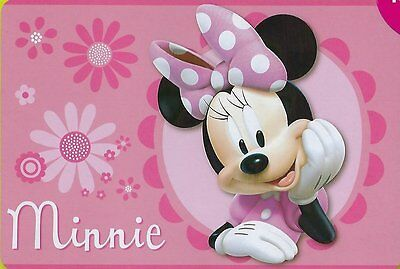 "Disney Minnie Mouse 54""x80"" Extra Soft Non-Slip Area Rug Play Mat Kids Playmate"