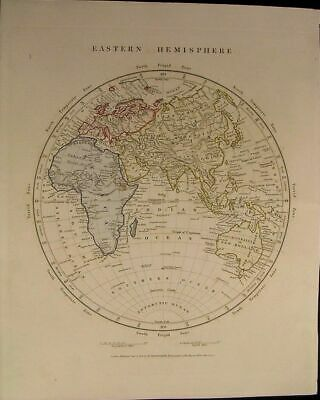 Eastern Hemisphere Africa Mountains of Moon Australia 1828 Arrowsmith Asia China