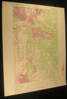 Renton Washington Northern Pacific RR 1969 vintage USGS original Topo chart map