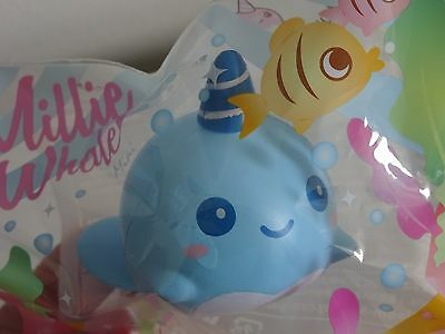 iBloom Mini Sized Millie Whale BILLIE BLUE Squishy NEW IN PACKAGE
