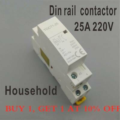 CT1 2P 25A 220V/230V 50/60HZ Din rail Household ac contactor 2NO 2NO 1NONC kn