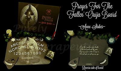 PRAYER FOR THE FALLEN MESSAGE TALKING OUIJA BOARD~Anne Stokes~Angel Wicca Gothic