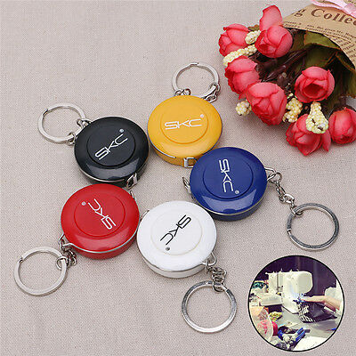 1.5M 60 Inch Sewing Tailor Retractable Measure Ruler Soft Flat Tape Keyring