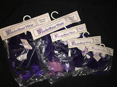 "Vanderbear outfit SET OF 5 ""MUSICAL SOIREE"" BRAND NEW"