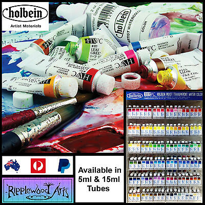 Holbein Moist Transparent Watercolor - Available in 5ml & 15ml tubes - SERIES B
