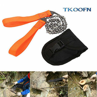 New 11 Teeth Steel Wire Hand Chain Saw Emergency Survival Climbing Outdoor Gear
