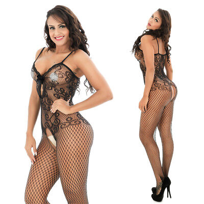 Women's-Sexy-Lingerie-Fishnet-Body Stockings-Dress-Sleepwear-COSPLAY-Babydoll