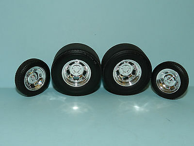 Acme/GMP 1/18 Chrome Gasser Wheel And Tyre Set Great for diorama or rebuilds