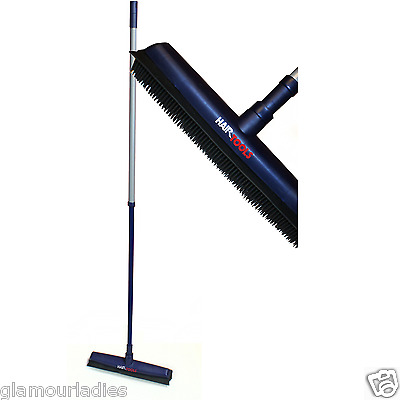 Hair Tools Soft Rubber Bristle Extendable Broom for All Surfaces Salon Cleaning
