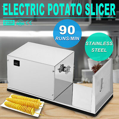 220V Electric Potato Tower Chips Slicer Vegetable Cutter Spiral Twister