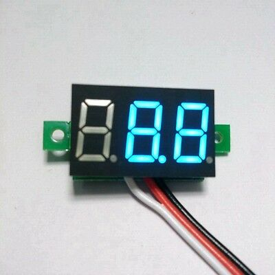 Mini DC100V Car Digital Voltmeter Voltage Panel Meter Battery Monitor  Blue Led