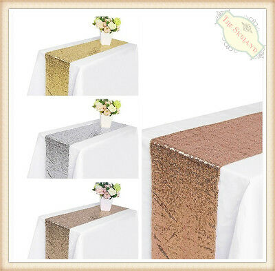 X1 X5 X10 Bulk Sequin Table Runners Cloth Party Wedding Event Home Decoration