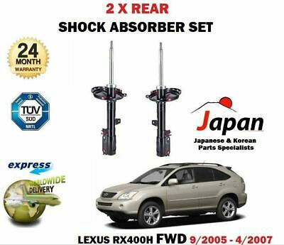 FOR LEXUS RX400H FWD 211bhp 9/2005 - 4/2007 2 X REAR SHOCK ABSORBER SHOCKER SET