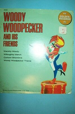 1960s Woody Woodpecker and his Friends 45 rpm Record