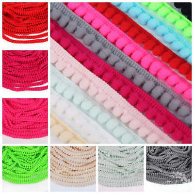 10yards Jumbo Pom Pom Bobbles Trim Fringe 10mm Ball Ribbon Sewing Fabric Crafts
