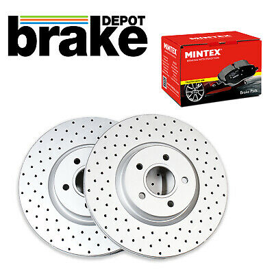 Brembo Front Drilled Brake Discs and Brake Pads for Subaru Impreza WRX