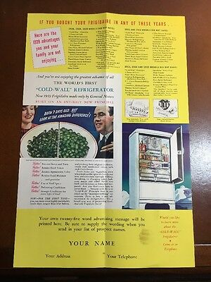 1939 Frigidaire Refrigerator Advertising Booklet Flyer General Motors Full Color