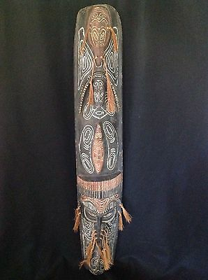 "Large 58"" Vintage Tribal Papua New Guinea (Indonesian) Wood  Carving"