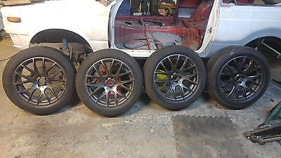 4 Alloy wheels and tyres 18 inch 5x100 subaru audi vw