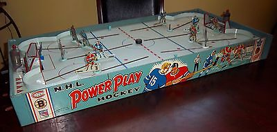 Eagle Power Play hockey game with goal lights  1958 table top hockey game # 1