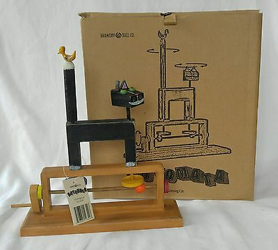 Harmony Ball Automata Black Grinning Cat Wooden Toy Collectible Spinning NIB