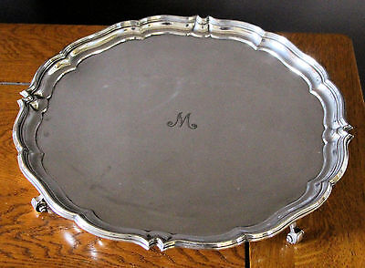 Vintage Harrison Brothers and Howson silver plate salver