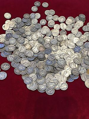 Super Estate Special! - Group Lot of 10 Nice 90% Silver Mercury Dimes!