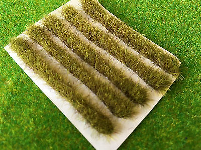 Yellow-Brown 5cm Grass Strips -Serious-Play- Model Scenery Static Tufts N gauge