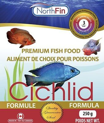 NORTHFIN CICHLID 3 mm  100g Premium Quality Slow Sinking Pellets