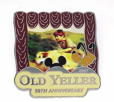 RARE LE 750 Disney Pin✿Old Yeller Movie Anniversary Pluto Mickey Theater Dog HTF