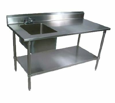 Work Table, with Prep Sink(s), John Boos EPT6R5-3060GSK-L-X