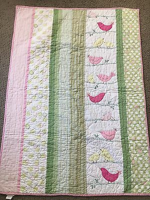 Pottery Barn Kids Nursery Bedding, Penelope Crib, Baby Quilt~EUC~RARE