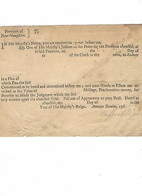 Meshech Weare,  New Hampshire's  First President, Signs Colonial Document