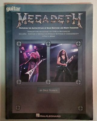Megadeth Guitar Styles Of Dave Mustaine & Marty Friedman Tab Songbook Tablature