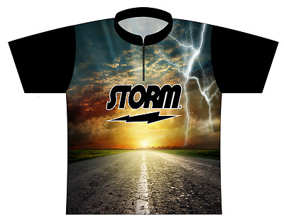 Storm On The Road Dye-Sublimated Bowling Jersey SIZE MEDIUM