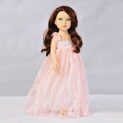 Cute Lace Dress Skirt for 18'' American Girl Journey Doll Clothes Light Pink
