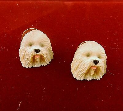 Old English Sheep Dog 3D Post Earrings