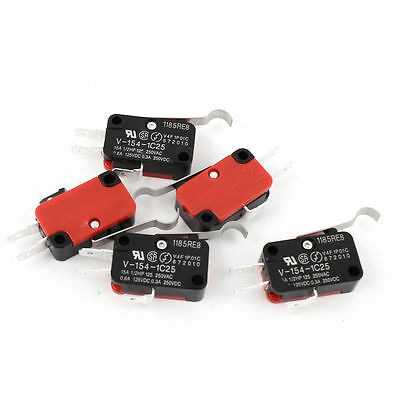 10PCS NEW Omron Micro Limit Switch with Curved Tip Lever V-154-1C25 15A 125/250V
