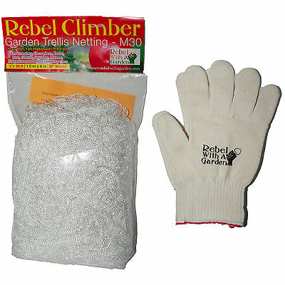 Garden Trellis Netting and Cotton garden gloves by Rebel With A Garden-5x30ft