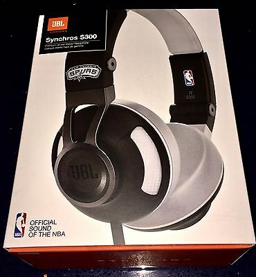7983b93fda5 JBL Synchros S300 NBA Edition On Ear Stereo Headphones San Antonio Spurs NEW
