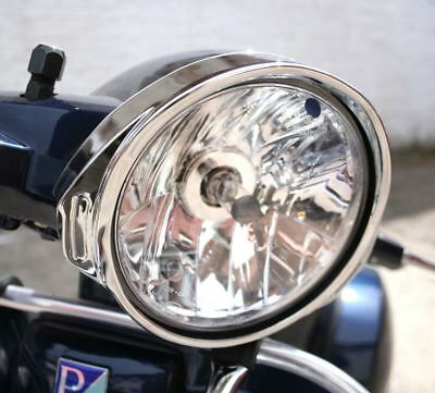 Vespa PX 125 200 T5 Chrome Headlight Rim Trim Surround Bezel NEW
