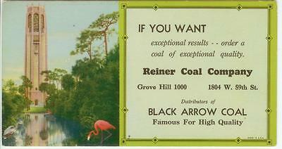 c1930s Chicago Illinois Reiner Coal Co ad blotter - Black Arrow Coal