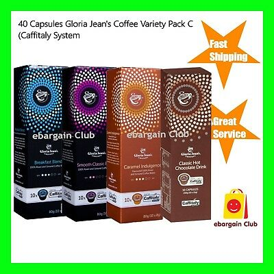 40 Capsules Gloria Jeans Variety Pack C Mix Capusules Pod Caffitaly System eBC