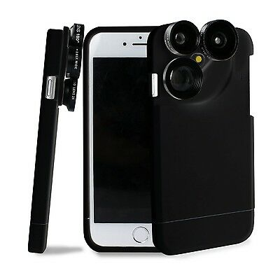 4 in 1 iPhone 7 Lens Case Camera Lens Kit Fish Eye Lens / Macro Lens / Wide A...