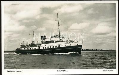 Real photo Postcard - 'BALMORAL- Red Funnel Steamers - Southampton.