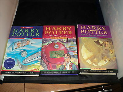 Harry Potter Complete Set Of 7 Hardback Bloomsbury well read no dust covers
