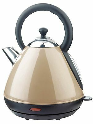 1.7 Litre Mocha Cordless Pyramid Tea Kettle Fine Element 360 new