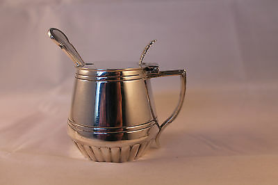 ANTIQUE MAPPIN BROTHERS 1865c SILVER QUEENS PLATE LIDDED MUSTARD POT SHEFFIELD