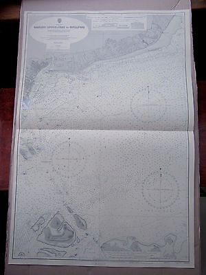 """1969 Eastern Approaches to SINGAPORE - Nautical Sea Map Chart 28"""" x 41"""" C54"""